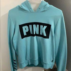 A Women's Blue Pink hoodie